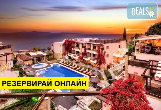 Оферта: Нощувка на база HB в Olympion Sunset Hotel 5*, Фурка, Халкидики