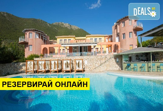 Нощувка на база BB,HB в Red Tower Hotel 3*, Никиана, о. Лефкада