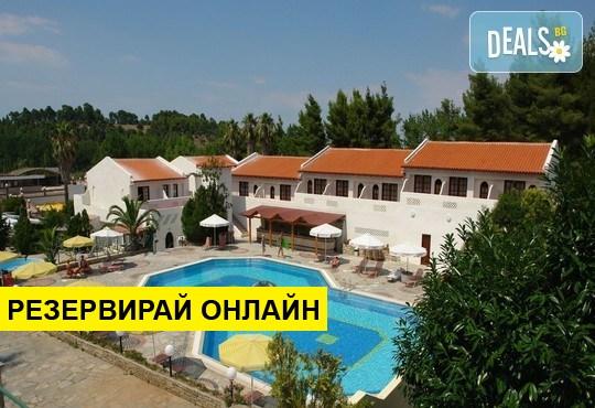 Нощувка на база HB, AI в Macedonian Sun Hotel 3*, Калитеа, Халкидики