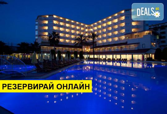 НГ 2020 в Турция със самолет от Варна! 4 нощувки на база All inclusive в Febeach Hotel...